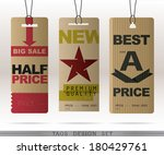 paper sale tags collection  ... | Shutterstock .eps vector #180429761
