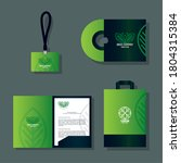 mockup stationery supplies... | Shutterstock .eps vector #1804315384