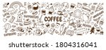 cute doodle cartoon coffee shop ... | Shutterstock .eps vector #1804316041