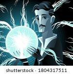 inventor genius with lighting...   Shutterstock .eps vector #1804317511