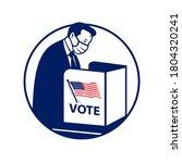 american voter wearing face... | Shutterstock .eps vector #1804320241