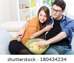 beautiful young married looking ... | Shutterstock . vector #180434234