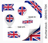 made in the u.k. collection of... | Shutterstock .eps vector #180441704