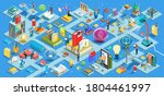 the process of education  the... | Shutterstock .eps vector #1804461997