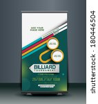 billiard competition roll up... | Shutterstock .eps vector #180446504