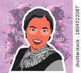 vector of rosa parks  the first ... | Shutterstock .eps vector #1804522087