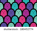funny seamless pattern with... | Shutterstock .eps vector #180452774
