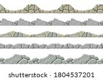 set of seamless old gray border.... | Shutterstock .eps vector #1804537201