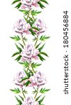 seamless floral border stripe...   Shutterstock . vector #180456884