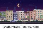 ghetto landscape at night... | Shutterstock .eps vector #1804574881