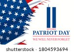 patriot day in the united... | Shutterstock .eps vector #1804593694