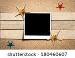 few marine items on a wooden... | Shutterstock . vector #180460607