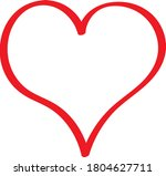 the red heart is a symbol of... | Shutterstock .eps vector #1804627711