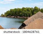Lake Superior Shore At Grand...