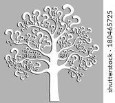 tree of questions isolated on... | Shutterstock .eps vector #180465725