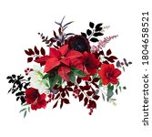 Christmas Joy Floral Vector...