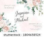 silver sage and blush pink... | Shutterstock .eps vector #1804658524