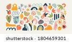 set of trendy doodle and... | Shutterstock .eps vector #1804659301