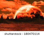 Red Alien Landscape   Elements...