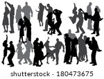 vector silhouette of people who ... | Shutterstock .eps vector #180473675