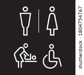 toilet icon signage for luxury... | Shutterstock .eps vector #1804754767