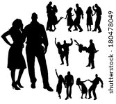 vector silhouette of people who ... | Shutterstock .eps vector #180478049
