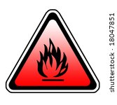 triangle fire warning sign  ... | Shutterstock . vector #18047851
