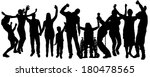 vector silhouette of people who ... | Shutterstock .eps vector #180478565