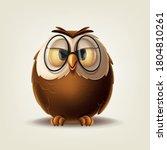 owl with glasses illustration... | Shutterstock .eps vector #1804810261