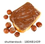 bread with sweet chocolate... | Shutterstock . vector #180481439