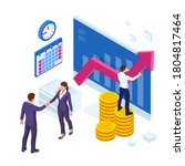 isometric business to business... | Shutterstock .eps vector #1804817464
