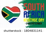 heritage day in south africa....   Shutterstock .eps vector #1804831141