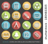 school icons on circular... | Shutterstock .eps vector #180483305