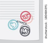 animal's stamps | Shutterstock .eps vector #180484391