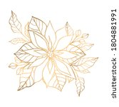 Hand Drawn Golden Floral...