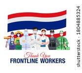 thank you frontline workers.... | Shutterstock .eps vector #1804885324