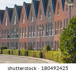 Modern Middle Class Real Estate on the Real Estate Market in the Netherlands - stock photo