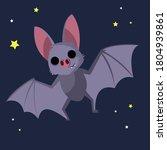 bat. cute bat flying on a... | Shutterstock .eps vector #1804939861