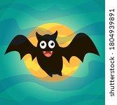 bat. flying bat halloween... | Shutterstock .eps vector #1804939891