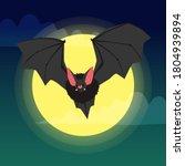 Bat. Flying Bat Halloween...