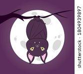 bat. flying bat halloween... | Shutterstock .eps vector #1804939897