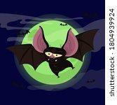 bat. flying bat halloween... | Shutterstock .eps vector #1804939924