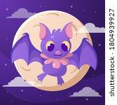 bat. flying bat halloween... | Shutterstock .eps vector #1804939927