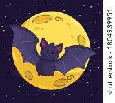 bat. flying bat halloween... | Shutterstock .eps vector #1804939951