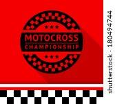 racing stamp 12  vector... | Shutterstock .eps vector #180494744