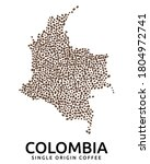 shape of colombia map made of... | Shutterstock .eps vector #1804972741