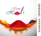 holi festival colorful...   Shutterstock .eps vector #180498485