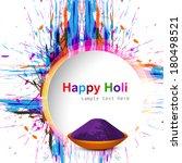 holi festival colorful grunge... | Shutterstock .eps vector #180498521