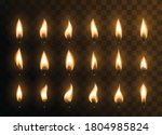 candle animated flames with... | Shutterstock .eps vector #1804985824