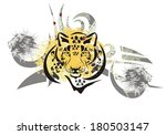 tribal leopard head | Shutterstock .eps vector #180503147